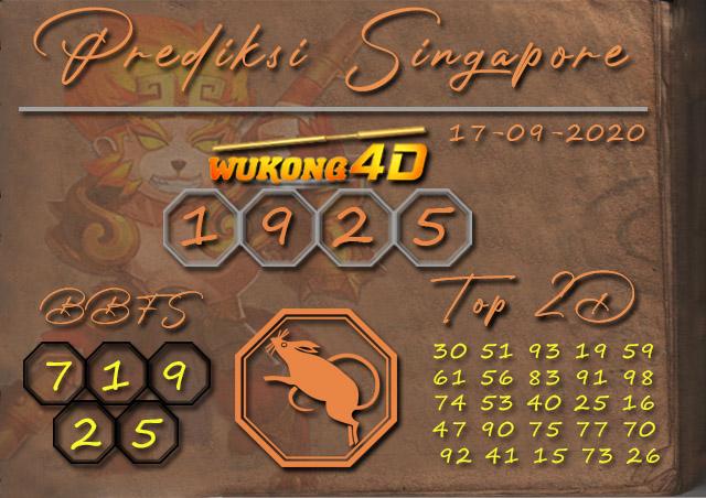 Prediksi Togel SINGAPORE WUKONG4D 17 SEPTEMBER 2020