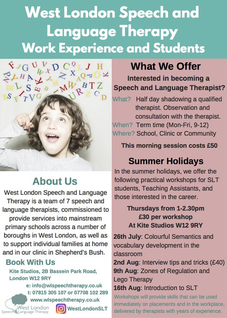 Work Experience and Students flyer 2018