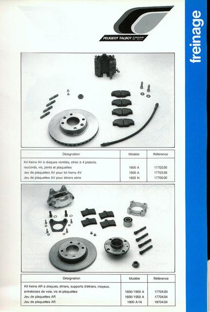 Catalogue PTS pièces compétition - 205 GTI 1600-1900 gr. N/A PTS-Freinage-1