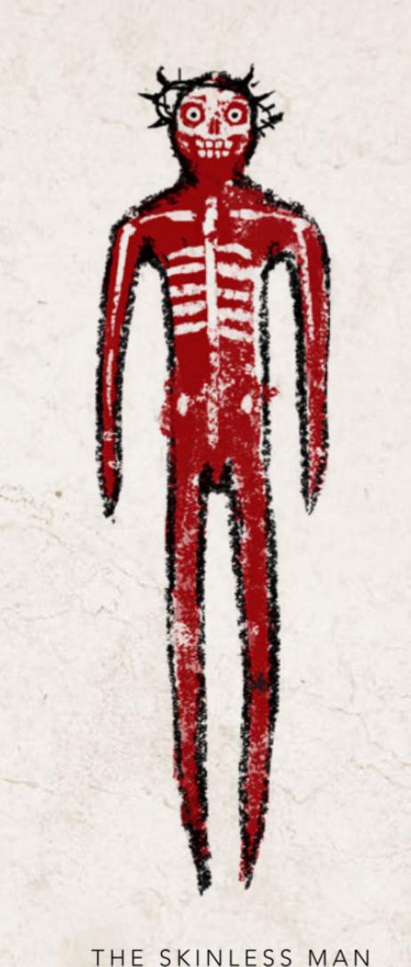 skinless man