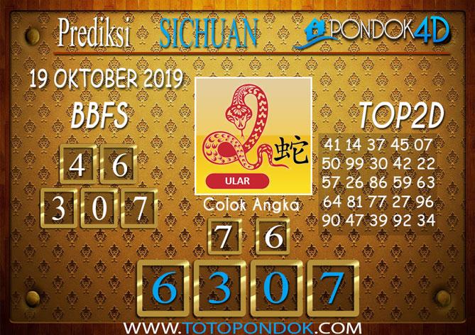 Prediksi Togel SICHUAN PONDOK4D 19 OKTOBER 2019