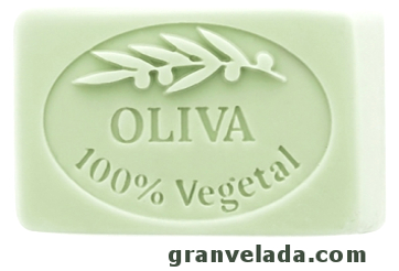 Jabón con aceite de oliva, pastilla de jabón de sosa, moldes para jabón