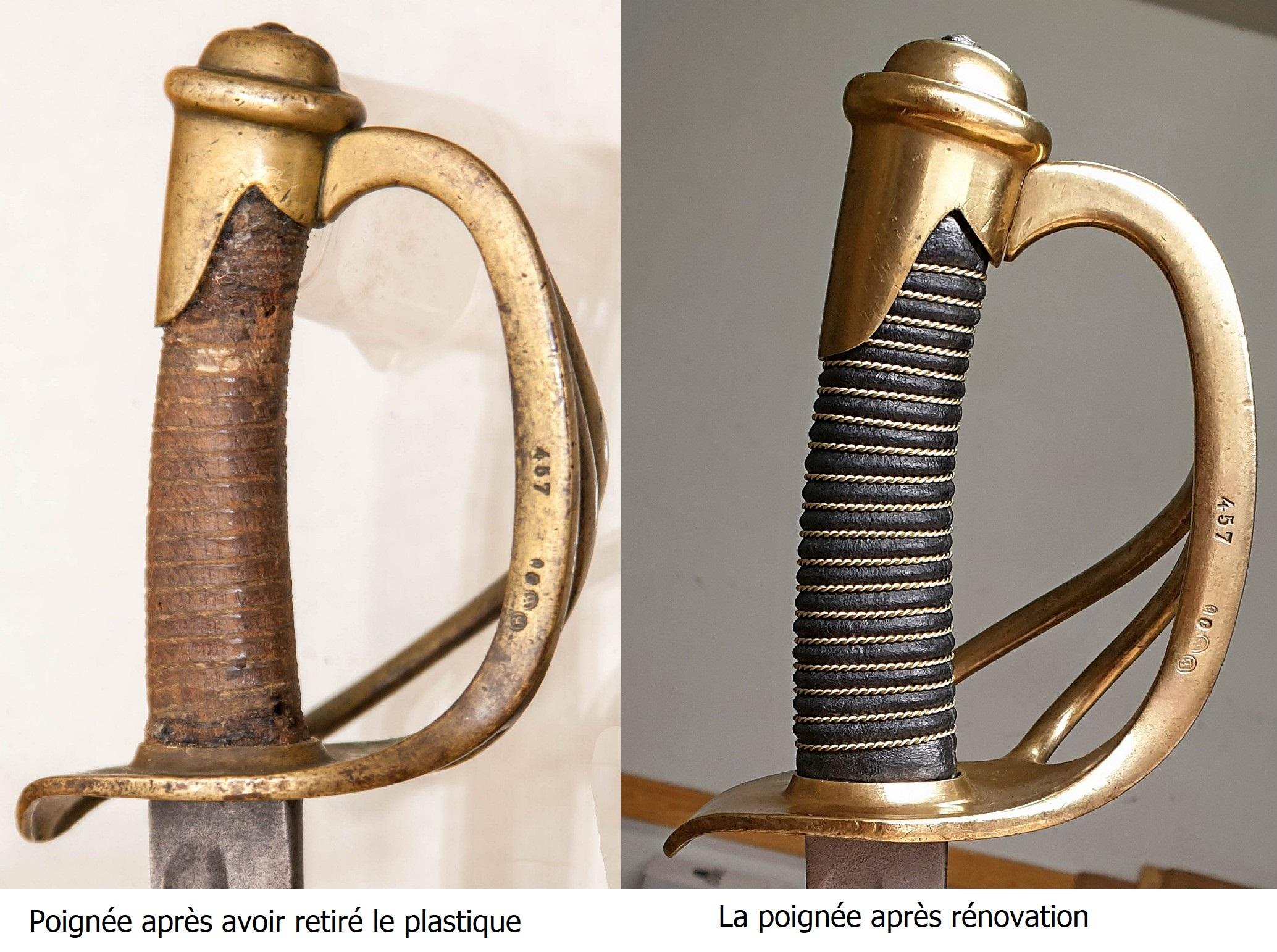 Sabre de cavalerie légère 1880 Rekoje-przed-i-po-01