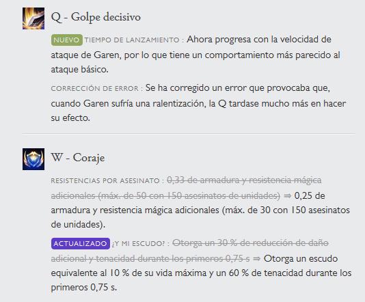 Actualización de Garen
