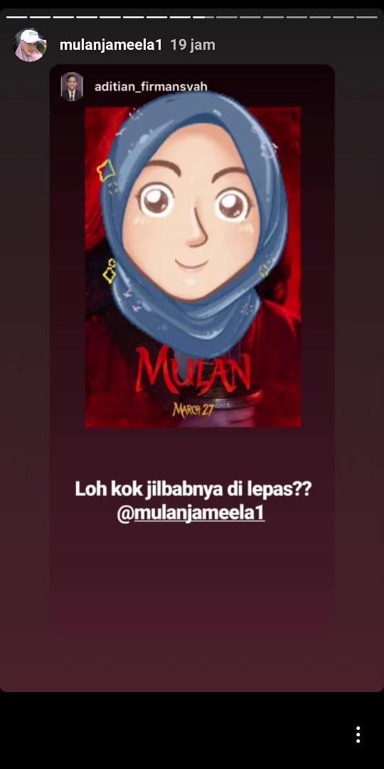 Unggahan Mulan Jameela di Instagram pribadinya.