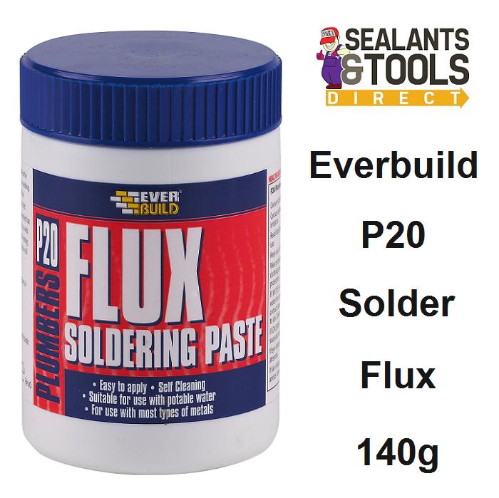 Everbuild P20 Plumbers Solder Soldering Flux Paste P20FLUX140