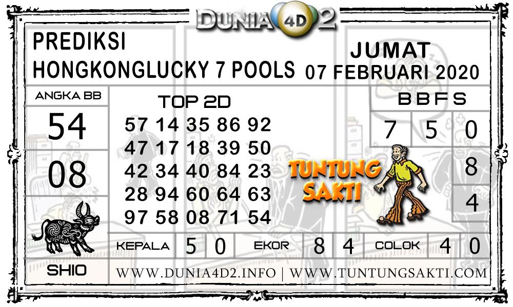 Prediksi Togel HONGKONG LUCKY7 DUNIA4D2 07 FEBRUARI 2020