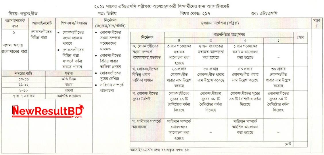 HSC Laghu Sangeet 2nd Week Assignment 2021