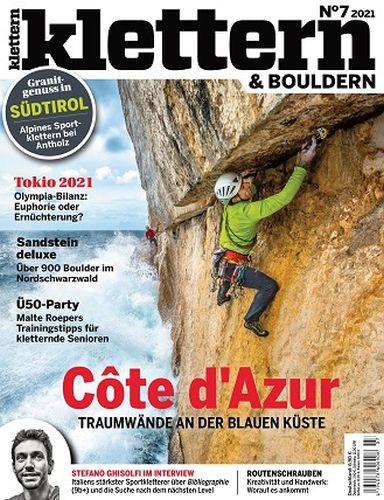 Cover: Klettern und Bouldern Magazin No 07 2021