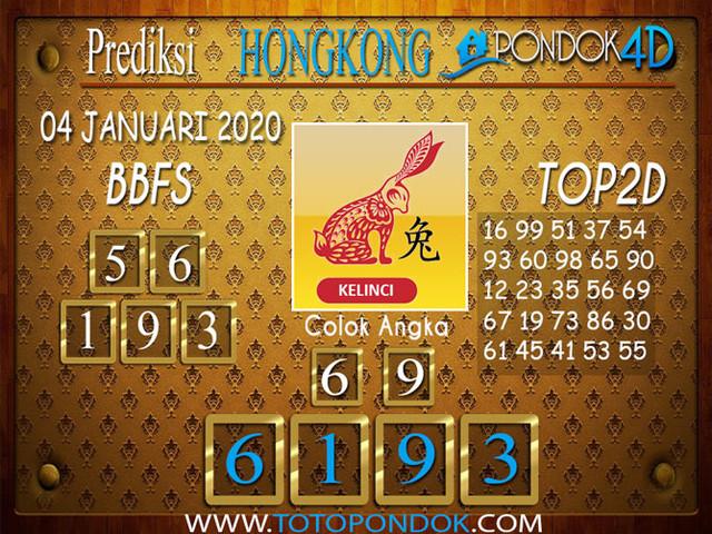 Prediksi Togel HONGKONG PONDOK4D 04 JANUARI 2020