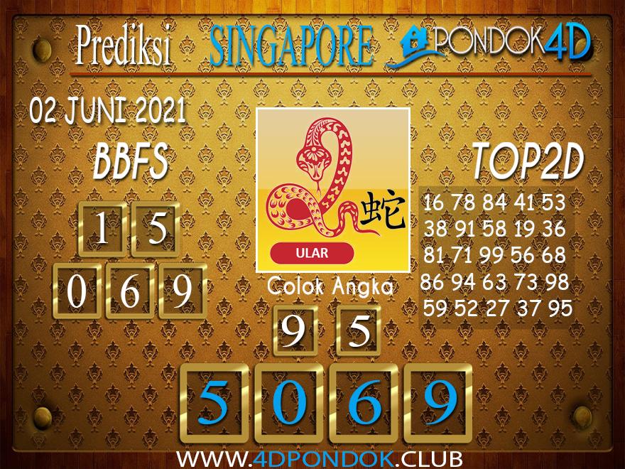 Prediksi Togel SINGAPORE PONDOK4D 02 JUNI 2021