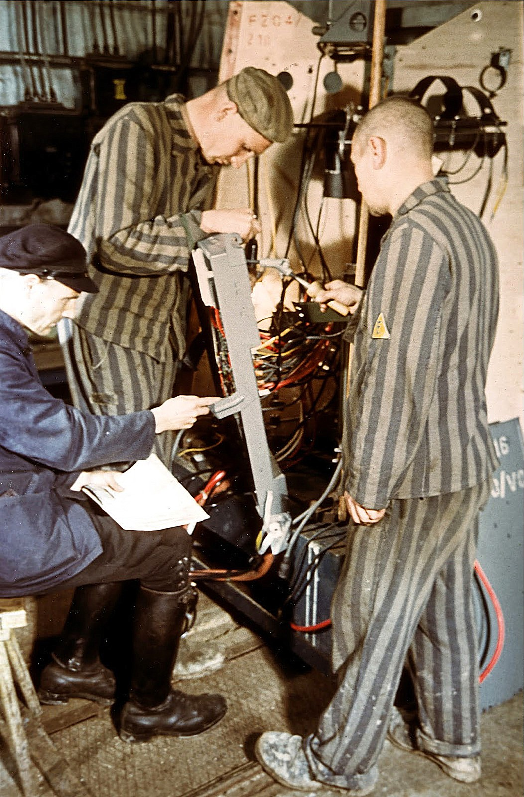 Dora-Mittelbau concentration camp inmates assembling the V-2 rocket