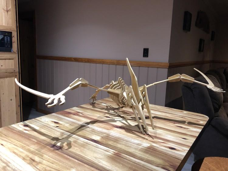 Pterodactyl 3D wood art sculpture 2