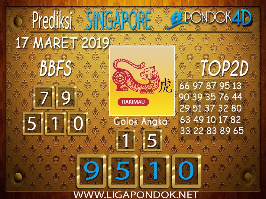 Prediksi Togel SINGAPORE  PONDOK4D 17 MARET 2019