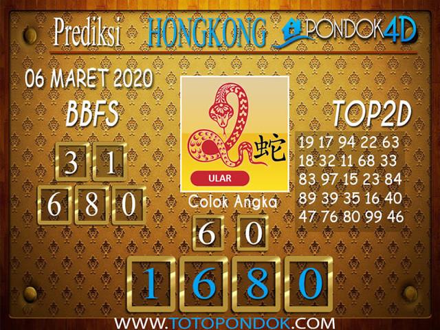 Prediksi Togel HONGKONG PONDOK4D 06 MARET 2020