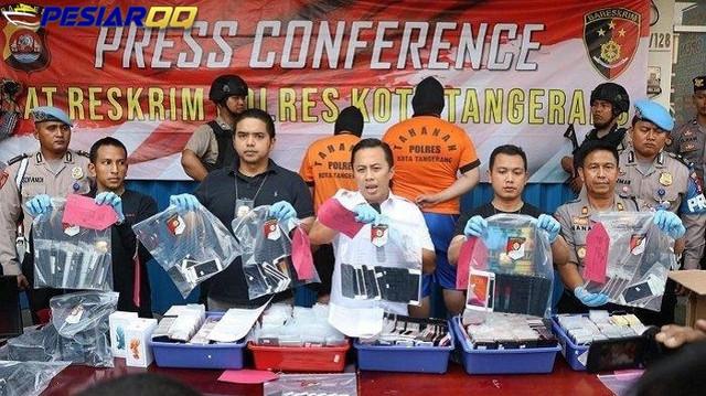 Polisi Bongkar Sindikat Rekondisi Smartphone di Tangerang, Pelaku Beli Ponsel Rusak Dari Singapura
