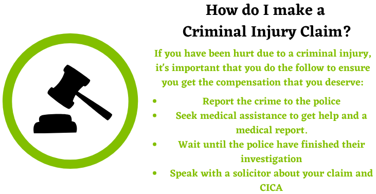 Criminal Injury Claim assistance