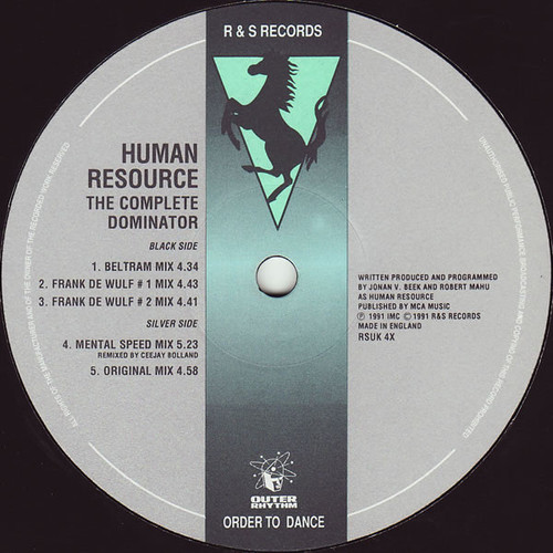 Human Resource - The Complete Dominator 1991