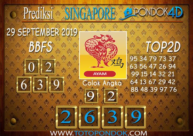 Prediksi Togel SINGAPORE PONDOK4D 29 SEPTEMBER 2019