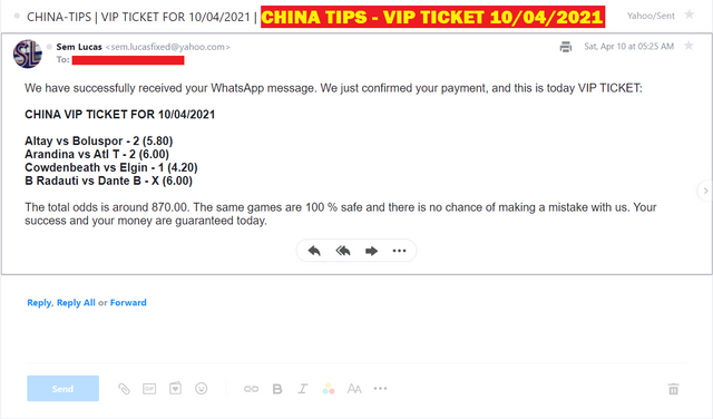 CHINA FOUR COMBINED FIXED MATCHES