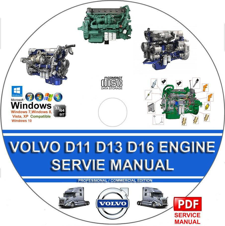 VOLVO TRUCK D11 D13 D16 ENGINE SERVICE REPAIR MANUAL + OPERATORS  MAINTENANCE MAN - MHH AUTO - Page 1 | Volvo D16 Engine Oil Diagram |  | MHH AUTO