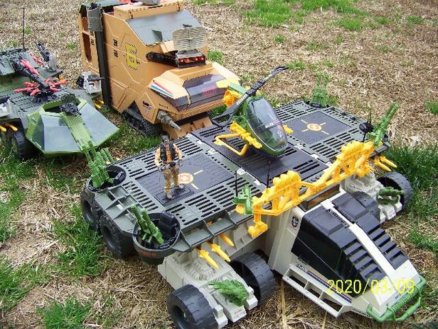 Three of the larger G.I. Joe vehicles