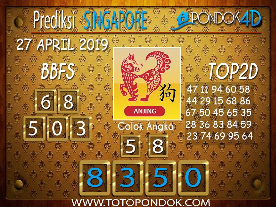 Prediksi Togel SINGAPORE PONDOK4D 27 APRIL 2019