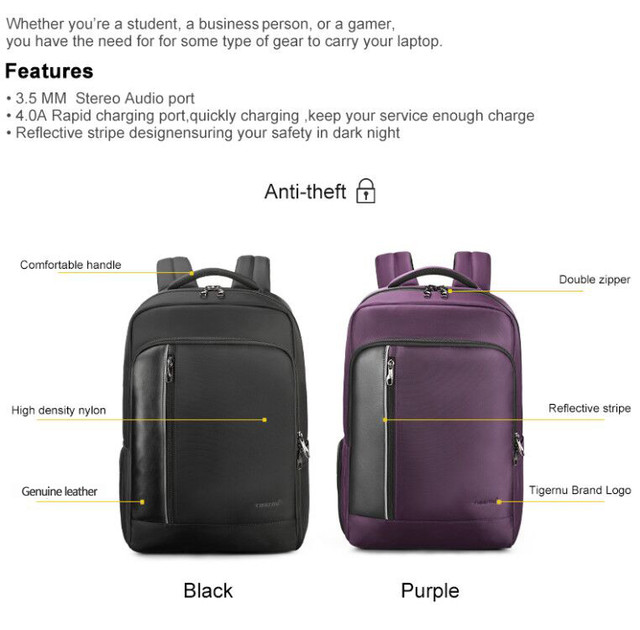 2-black-purple-school-backpack-bag