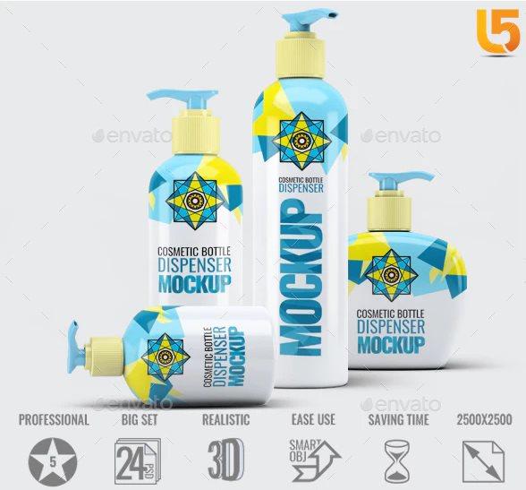 Dispenser Bottles Mock-Up Bundle