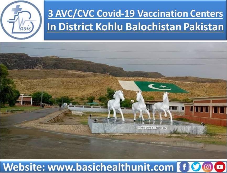 3 AVC/CVC Covid-19 Vaccination Centers In District Kohlu Balochistan Pakistan