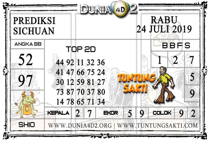 """Prediksi Togel """"SICHUAN"""" DUNIA4D2 24 JULI 2019"""