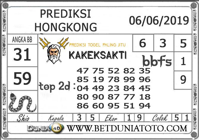 Prediksi Togel HONGKONG DUNIA4D 06 JUNI 2019