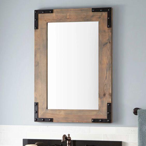 Виды зеркал в ванной комнате