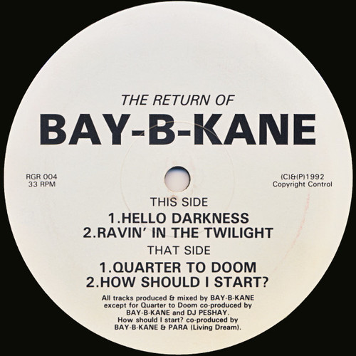 Bay B Kane - The Return Of Bay-B-Kane 1992