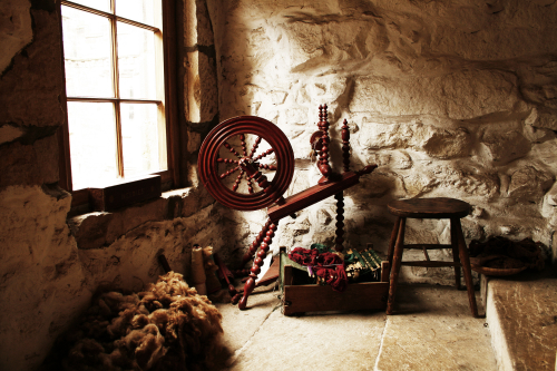 An image of a spinning wheel.