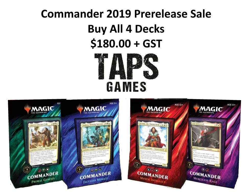 Commander 2019 Presale