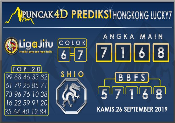 PREDIKSI TOGEL HONGKONG LUCKY7 PUNCAK4D 26 SEPTEMBER 2019