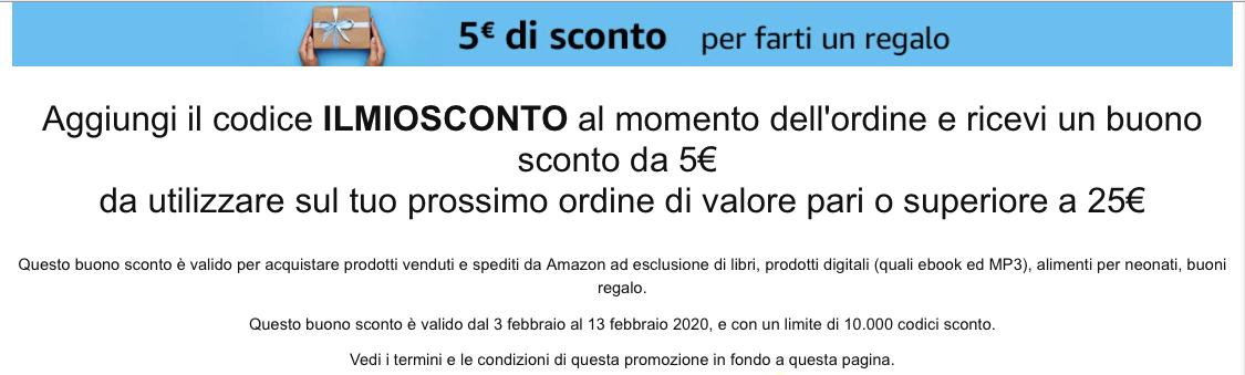 Sconto Regalo Amazon di 5 EURO! Verifica qui se sei idoneo
