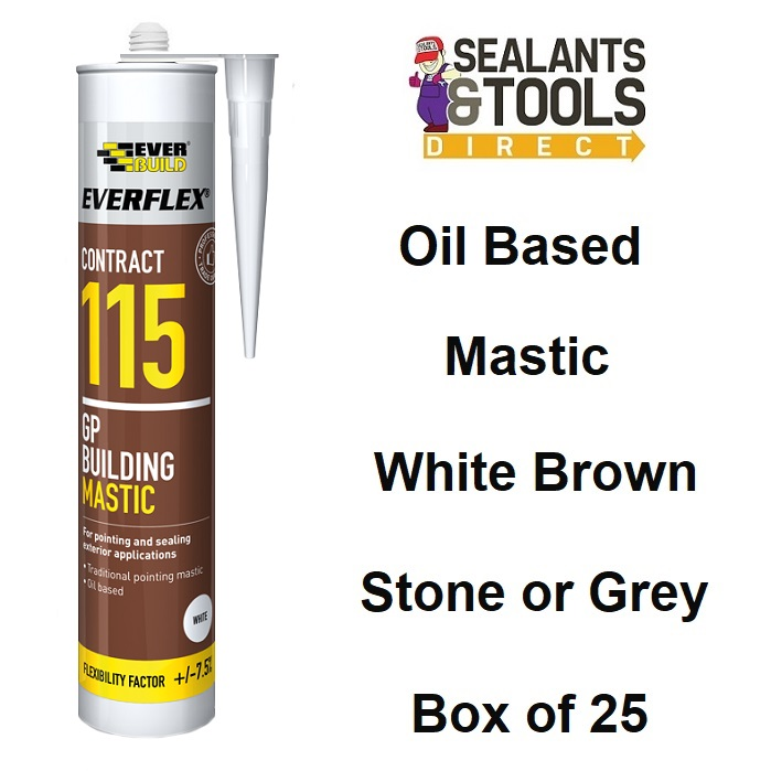 Everbuild 115 GP Oil Based Traditional Building Mastic Box 25