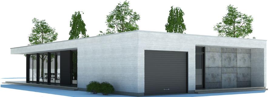Rumah Kombinasi Kaca dan Beton