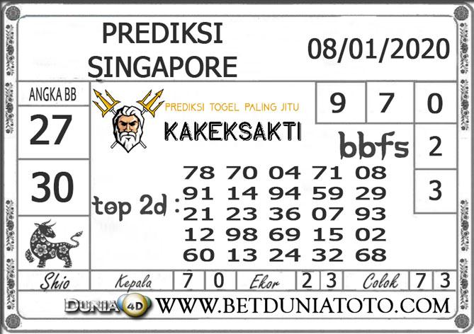 PREDIKSI TOGEL SINGAPORE DUNIA4D 08 JANUARI 2020