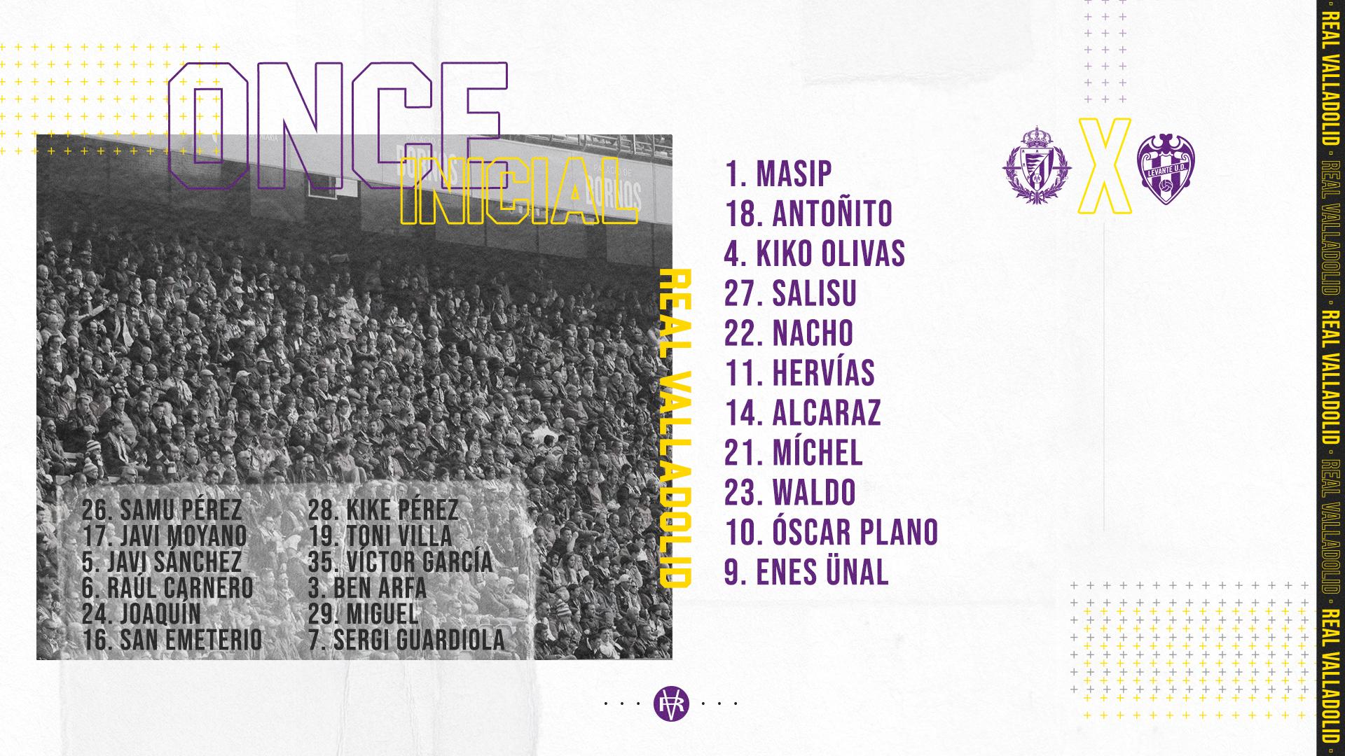 Real Valladolid C.F. - Levante U.D. Miércoles 1 de Julio. 22:00 Alineacion-LEV