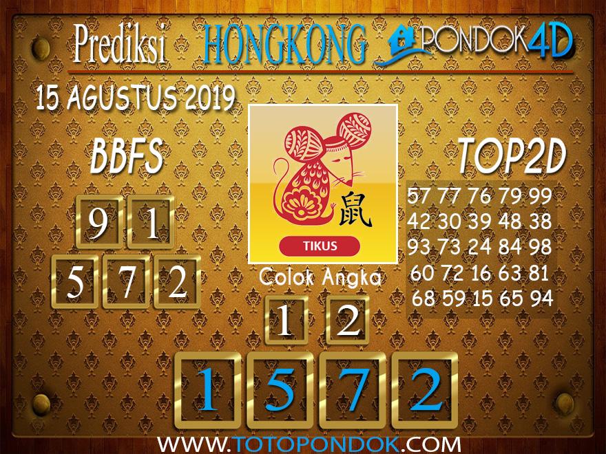 Prediksi Togel HONGKONG PONDOK4D 15 AGUSTUS 2019