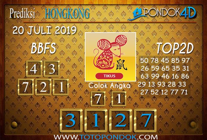 Prediksi Togel HONGKONG PONDOK4D 20 JULI 2019