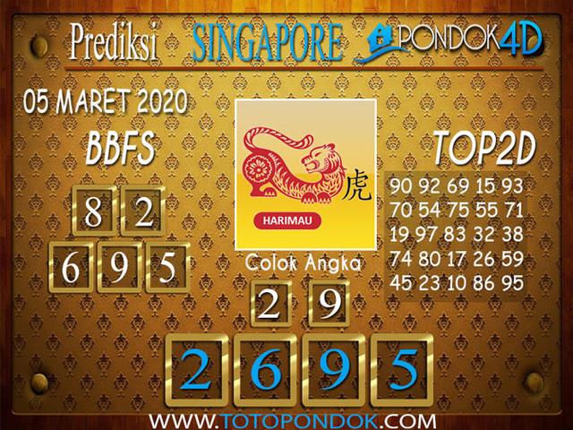 Prediksi Togel SINGAPORE PONDOK4D 05 MARET 2020