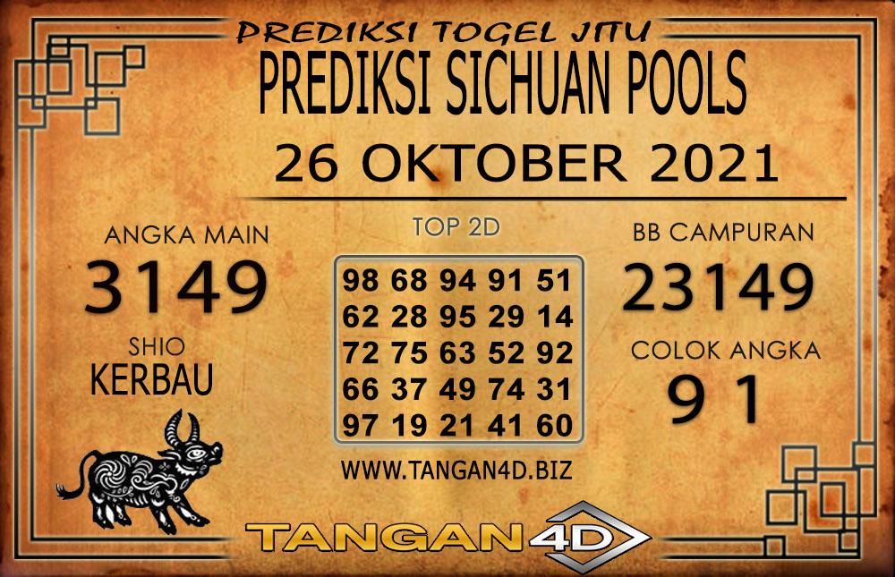PREDIKSI TOGEL SICHUAN TANGAN4D 26 OKTOBER 2021