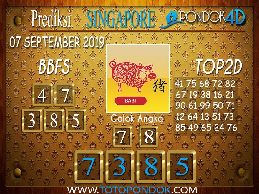Prediksi Togel SINGAPORE PONDOK4D 08 SEPTEMBER 2019