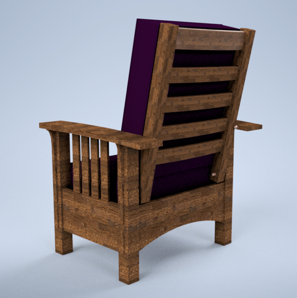 Wood Chair with ghetto looking cushion