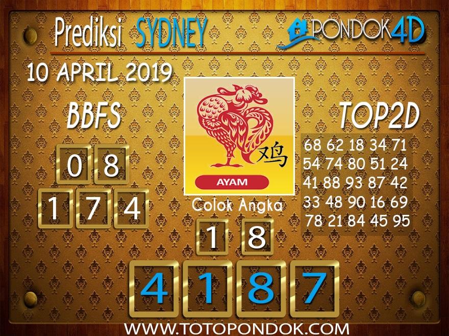 Prediksi Togel SYDNEY PONDOK4D 10 APRIL 2019