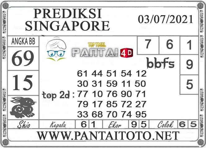 PREDIKSI TOGEL SINGAPORE PANTAI4D 03 JULI 2021